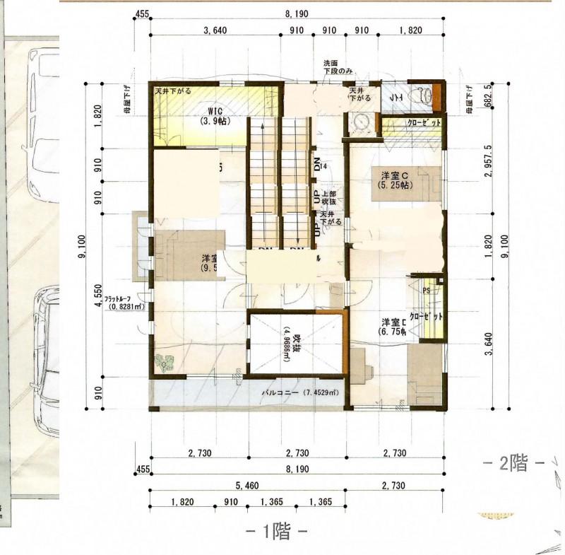 桧家住宅 新居2階案