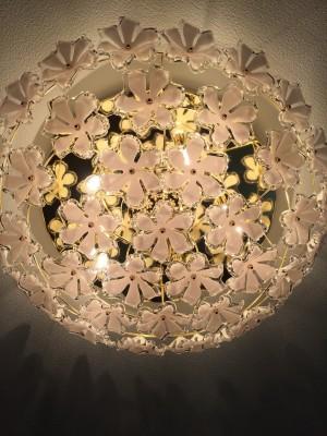 お花のシャンデリア